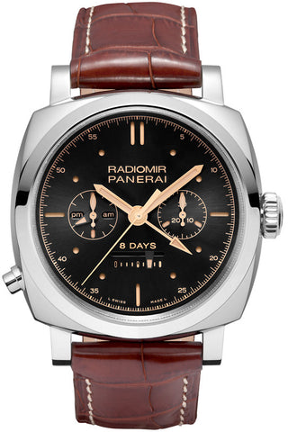 Panerai Radiomir 1940 Chrono Monopulsante 8 Days GMT Oro Bianco Limited Edition of 150 PAM00503