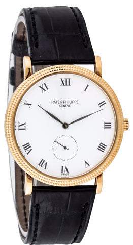 PRE-OWNED Patek Philippe 3919j Calatrava Manual Wind Mens Watch