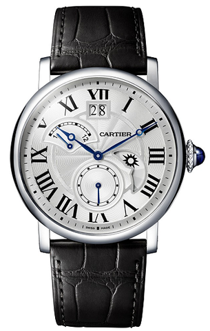 Cartier Rotonde de Cartier Retrograde Time Zone Mens Watch w1556368