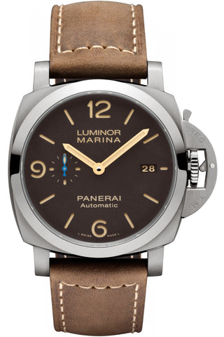 PANERAI Luminor Marina 1950 Brown Dial Automatic Men's Watch PAM01351