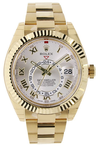 Rolex Sky Dweller 42mm Mens Watch 326938 Silver Roman