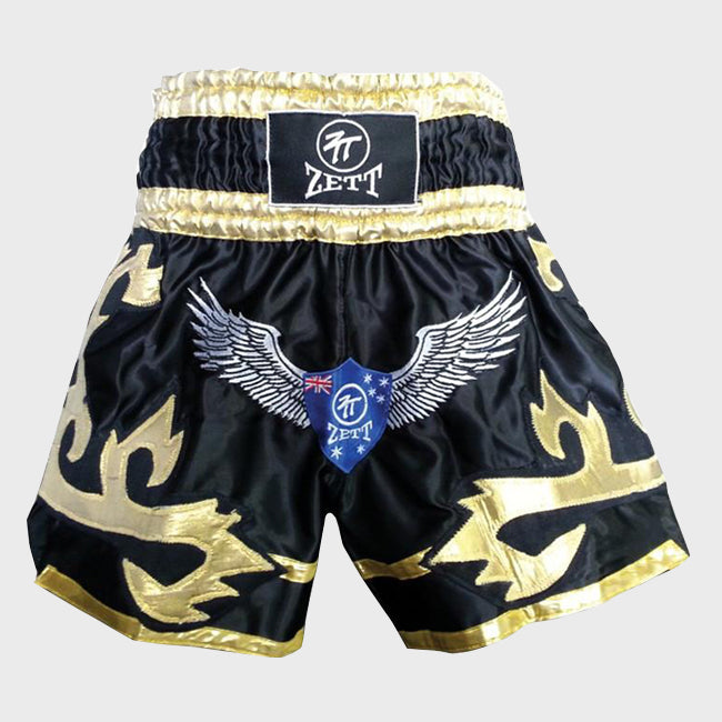 Black & Gold Muay Thai Shorts