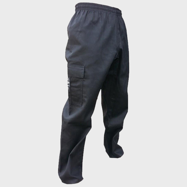 Zett Cargo Karate Pants - Black