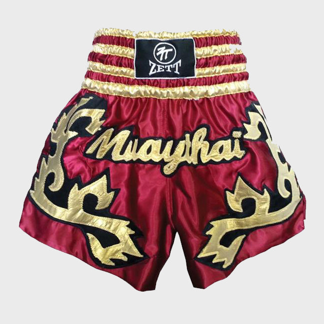 Red & Gold Muay Thai Shorts