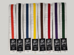White Belt With Colour Stripe