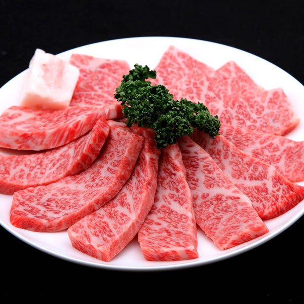Halal Kobe Beef Marbled Grilled Meat (Triangular Roses, Roses)
