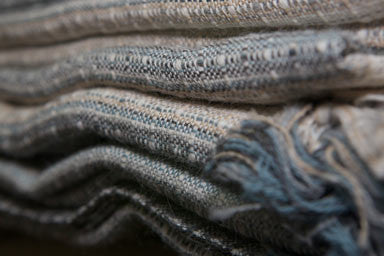 Stack of organic cotton woven fabric