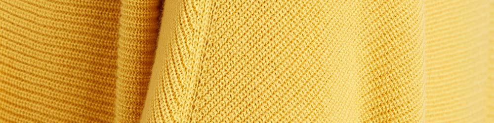 Saffron Yellow Organic Cotton Knit Swatch