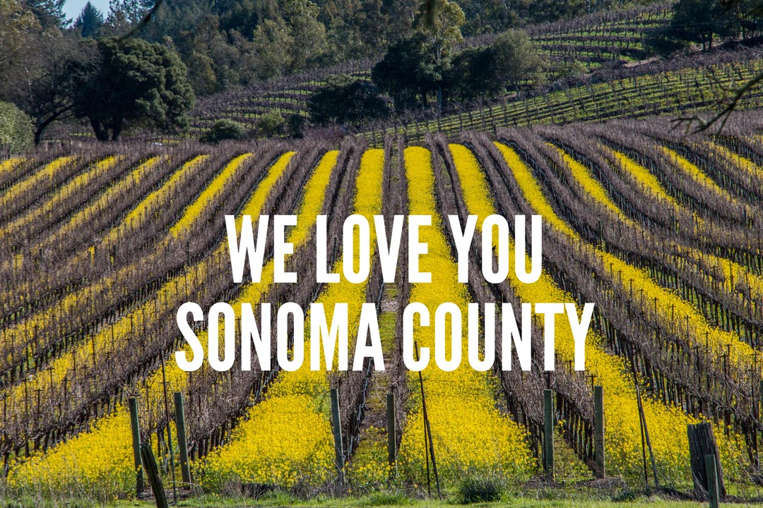 We Love You Sonoma County