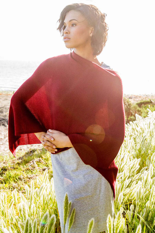 Womens Red Poncho | Perfect Style for Summer Vacation Packing