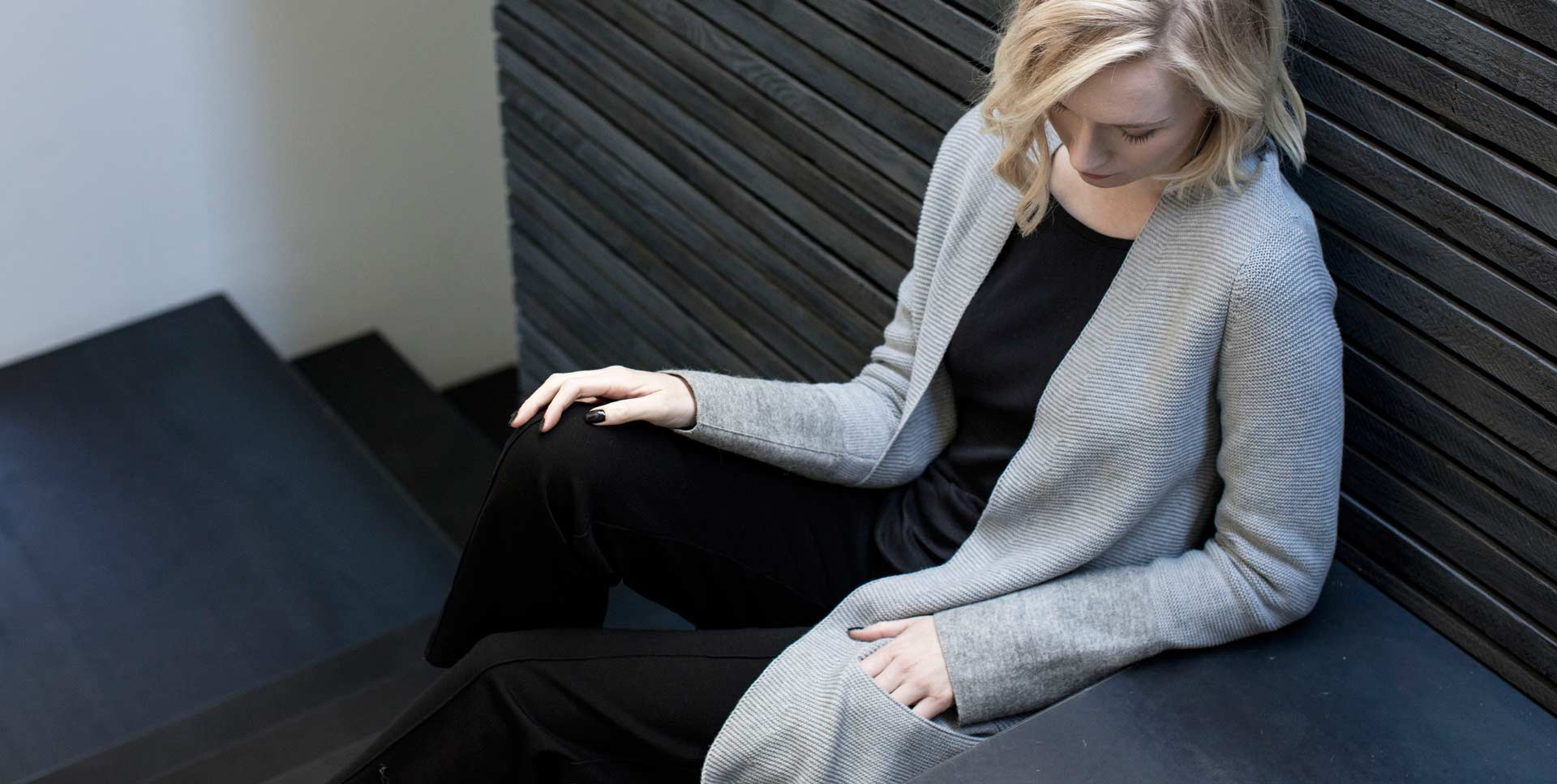 Womens sustainably made cardigan sweater fall winter 2017