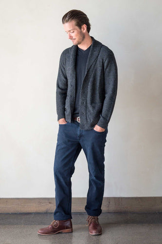 Men's Alpaca Shawl Collar Cardigan