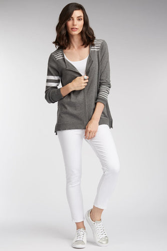 Stripe Zip Cardigan