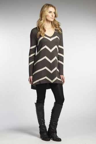 Reversible Chevron Dress