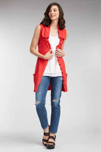 Long Sleeveless Cardigan