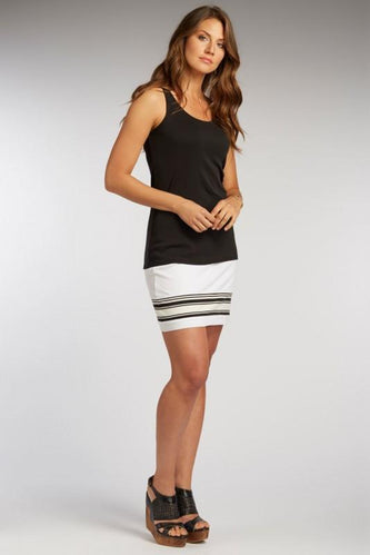 Luxe Striped Mini Skirt