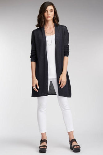 Netted Tie Front Cardigan