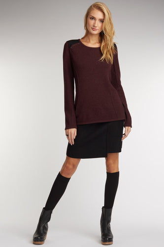 Shoulder Patch Sweater