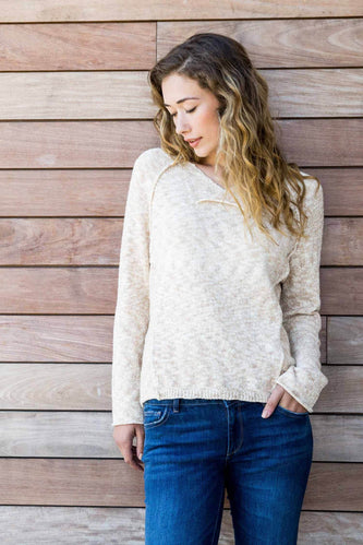 Undyed Turning Leaf Sweater