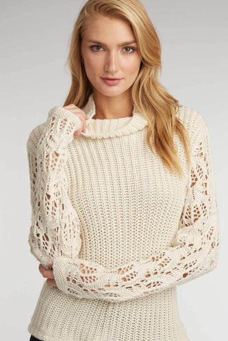 Open Cable Sleeve Sweater