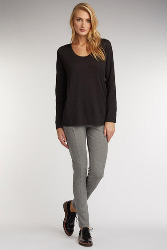 Scoop Neck Slub Pullover