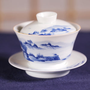 Mountain Water Porcelain Gaiwan - Wild Tea Qi Official Website