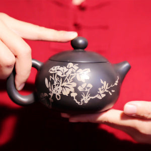 Happy Life - Jiang Shui Pottery Teapot - Wild Tea Qi Official Website