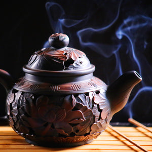 Began As a Tiny Sprout - Jiang Shui Pottery Teapot - Wild Tea Qi Official Website