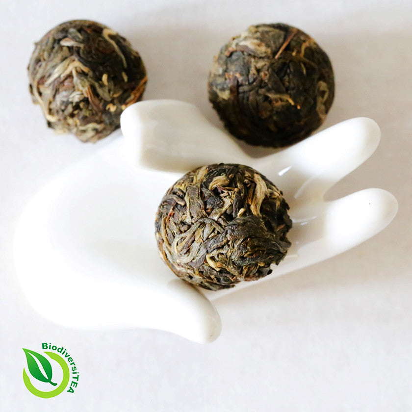 Ancient Purple Leaf Balls Raw Puer Tea