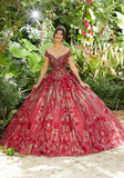 89291 Sequin Patterned Sparkle Tulle Quinceañera Dress