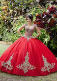89288 Embroidered and Crystal Beaded Quinceañera Dress