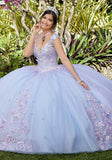 89282 Beaded Floral Sparkling Tulle Quinceañera Dress