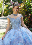 89294 Metallic Embroidered and Crystal Beaded Quinceañera Dress