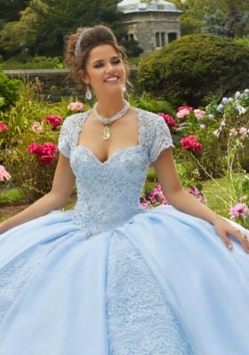 60106 Shimmering Organza and Tulle Quinceañera Dress