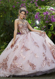 89292 Sparkle Tulle and Patterned Sequin Quinceanera Dress