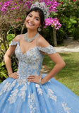89281 Crystal Beaded Tulle Quinceañera Dress