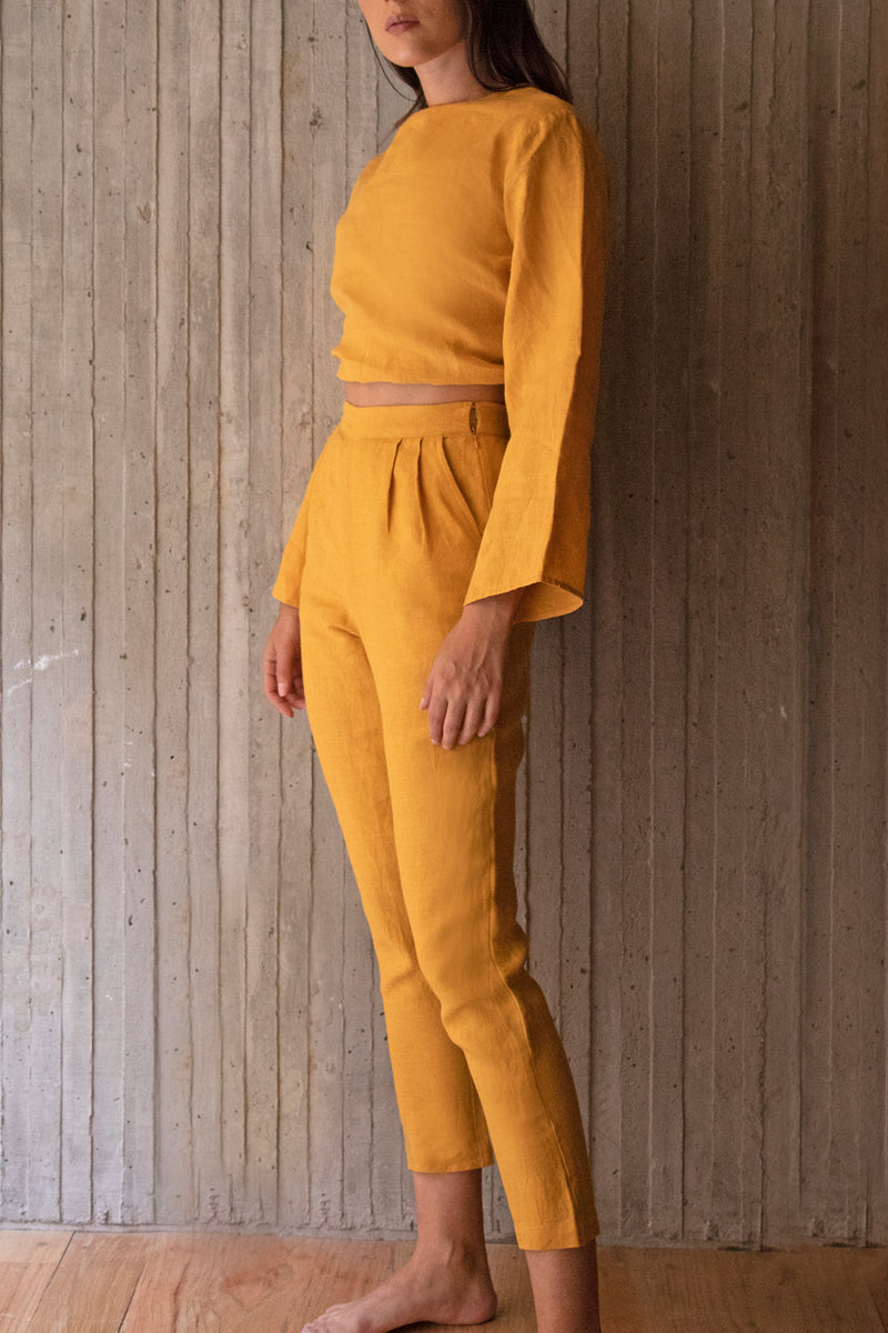 Abuelo Pant in Sol Yellow
