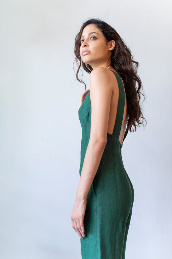 Adelita Jumpsuit in Jungle Green