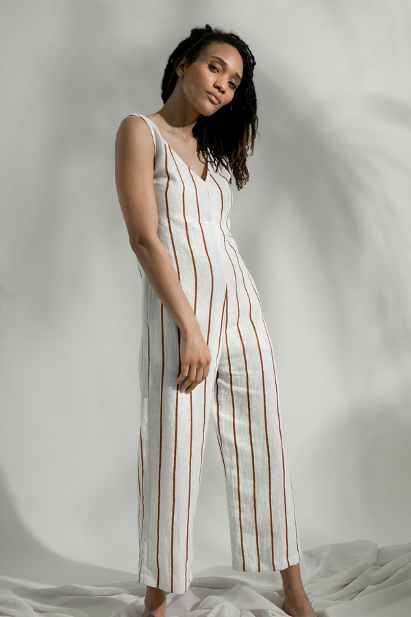 Mama Maya Jumpsuit in Tierra Stripe