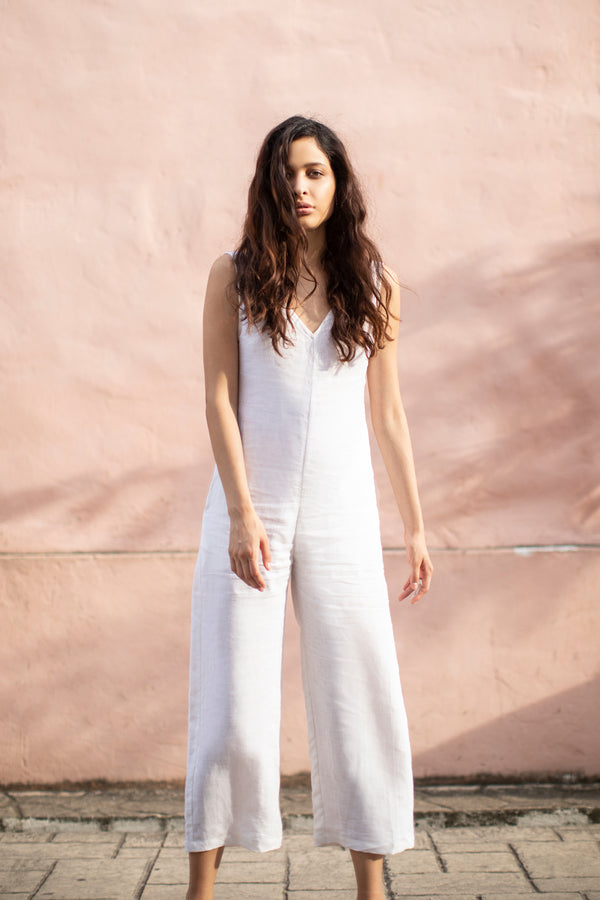 Mama Maya Jumpsuit in Bone White