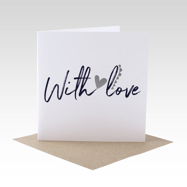 With Love Foil Card