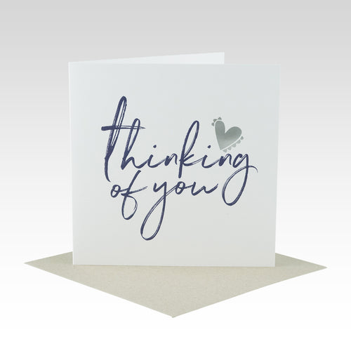 Thinking Of You Silver Foil Card