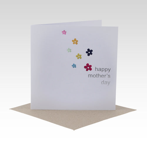 Mother's Day Card - Colourful Foil Flowers