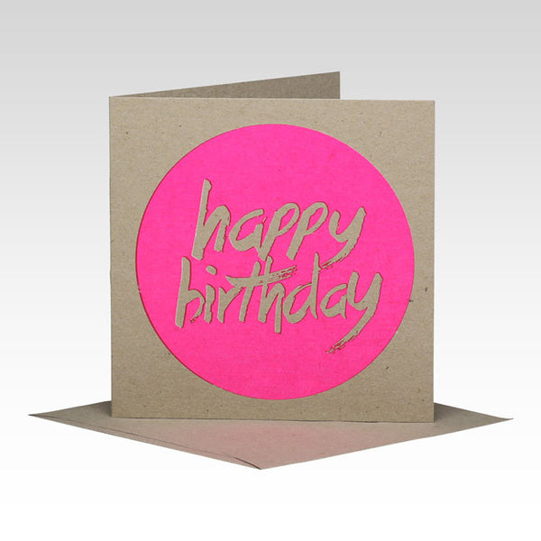 Circle Happy Birthday Card