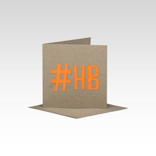 HASHTAG HAPPY BIRTHDAY MINI CARD