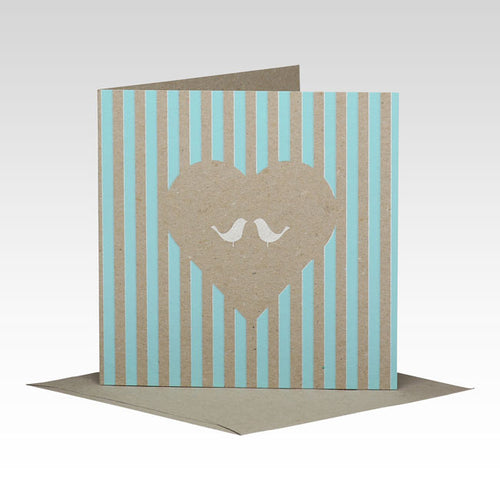 Fluoro Love Bird Card