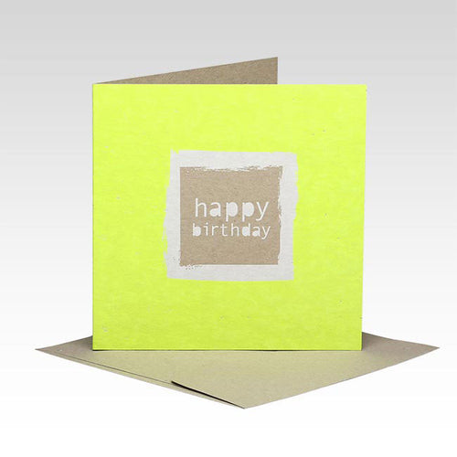 Square Happy Birthday Card