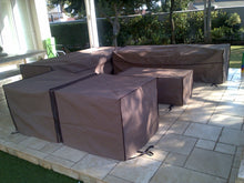 Coffee table cover - Ripstop UV Colours, Beige, Taupe, Dove Grey, Charcoal, Olive, Size 1200x550x400