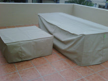 Coffee table cover - Ripstop UV Colours, Beige, Taupe, Dove Grey, Charcoal, Olive, Size 900x550x400