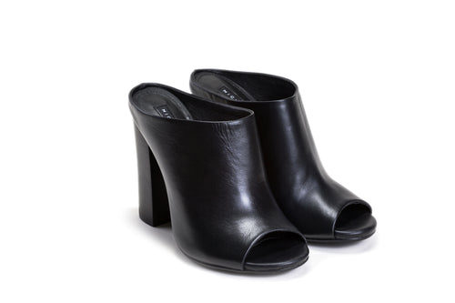 Black High Heels Mules